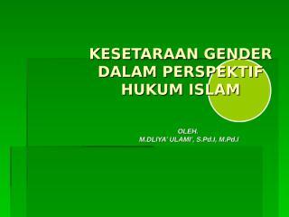 15. gender-dalam-perspektif-islam.ppt