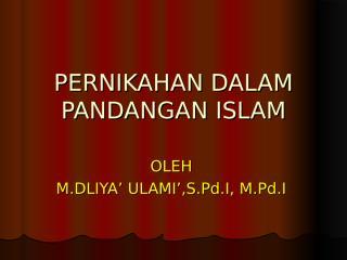 6. pernikahan dalam islam.ppt