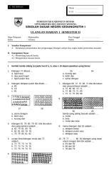 UH1 Matematika Kelas I.doc
