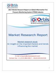 2017 Market Research Report on Global Aftermarket Tire Pressure Monitoring System (TPMS) Industry.pdf