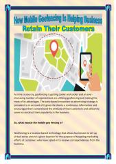 How Mobile Geofencing Is Helping Business Retain Their Customers.PDF