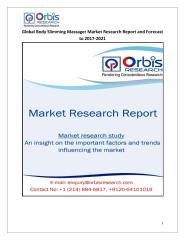 Global Body Slimming Massager Market Research Report and Forecast to 2017-2021.pdf