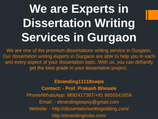 4.We are Experts in Dissertation Writing Services in Gurgaon.pptx