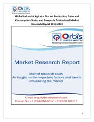 Global Industrial Agitator Market Production, Sales and Consumption Status and Prospects Professional Market Research Report 2018-2023.pdf