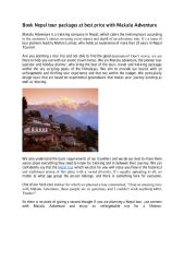 Book Nepal tour packages at best price with Makalu Adventure.pdf