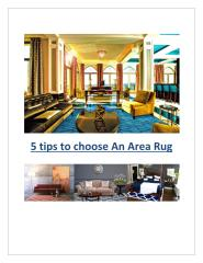 5 tips to choose An Area Rug.pdf