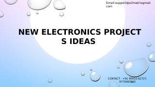 newelectronicsprojects ideas.pptx