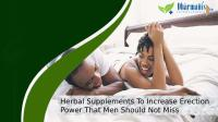 Herbal Supplements To Increase Erection Power That Men Should Not Miss.pptx
