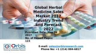 Global Herbal Medicine Sales Market 2017 Industry Trend and Forecast 2022.pptx