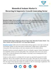Biomedical Sealants Market.pdf
