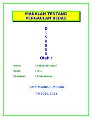 MAKALAH TENTANG PERGAULAN BEBAS.doc
